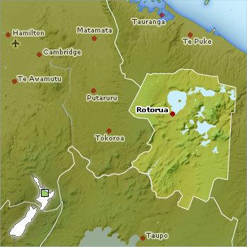 Map Of Taupo New Zealand.Rotorua Lake Taupo